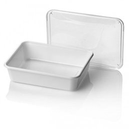 Microwave Meal containers - Bins 182 Series 650cc Rectangle PP White