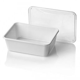 Microwave Meal containers - Bins 182 Series 1000cc Rectangle PP White