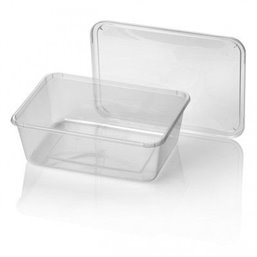 Microwave Meal containers - Bins 182 Series 1000cc Rectangle PP Transparent