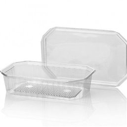 Bins - containers 500cc Octagonal PVC Crystal clear