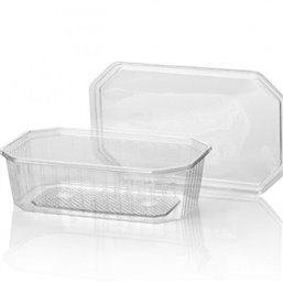 Bins - containers 600cc Octagonal PVC Crystal clear