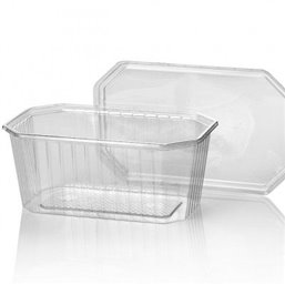 Bins - containers 1000cc Octagonal PVC Crystal clear