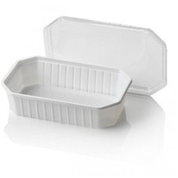 Bins - containers 500cc Octagonal PS White