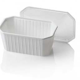 Bins - containers 1000cc Octagonal PS White