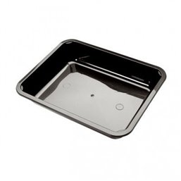 Menu tray PP Sealable 1-compartment Black M10/30