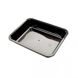 Menu tray PP Sealable 1-compartment Black M10/42