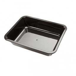 Menu tray PP Sealable 1-compartment Black M10/50