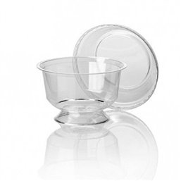 Dessert Cup With Foot PP Transparent
