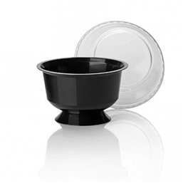 Dessert Cup With Foot PP Black