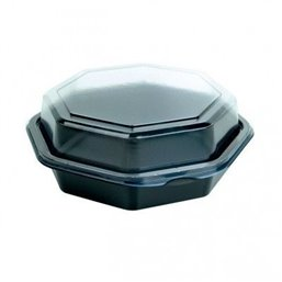 Octaview Box PS Black with fixed Lids Transparent 160x60