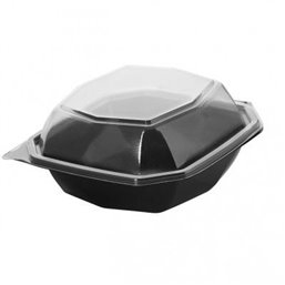 Octaview Box VK PET Black with fixed Lids Transparent 150x70