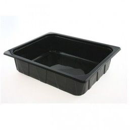 1/2 Gastro tray PP Black 80mm