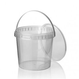 Ringlock Cups - containers With seal closure + Lid + Handle 1000cc