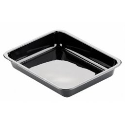 CPET Trays 226x176x35mm 960cc 1- compartment Black