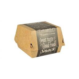 Hamburger box - containers Virgin Fibre Cardboard Good Food Large 7x11x11,5cm