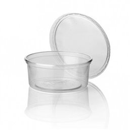 Salad trays - containers 101 Series Round 200cc PP Transparent 101/40