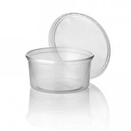 Salad trays - containers 101 Series Round 300cc PP Transparent 101/63