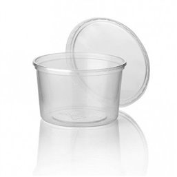 Salad trays - containers 101 Series Round 400cc PP Transparent 101/82