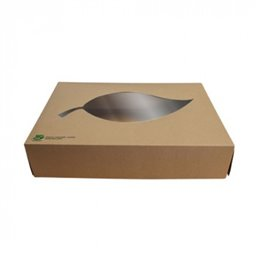 Catering Box Cardboard with Pla Window 100% Fair 35cm