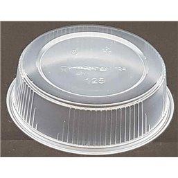 Saladebakjes 125cc 101 serie Rond Geribbeld PP Transparant Ø 101 x 27mm