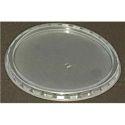 Round Salad lids for trays - containers 101 Series Ribbed PP Transparent Ø 101mm