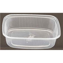 Salad trays - containers 108 Series Ribbed Rectangle PP Transparent 125cc 108/27