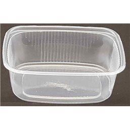 Salad trays - containers 108 Series Ribbed Rectangle PP Transparent 150cc 108/35