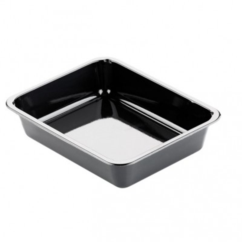 CPET Trays 227x177x50mm 1360cc 1-compartment Black - Horecavoordeel.com