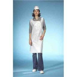 Apron Disposable 30my 130x75cm White Papstar (Small-package)