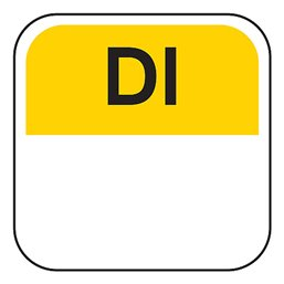 Dagstickers Dinsdag 19 x 19mm Geel - Zwart