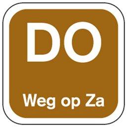 Dagstickers Donderdag Weg Op Zaterdag 25 x 25mm Bruin