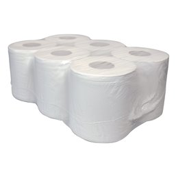 PoetsRoll 1 Laags Wit Recycled (EM) 320 Mtr 6Roll