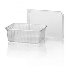 Microwave Meal containers - Bins 180 Series 1000cc Rectangle PP Transparent