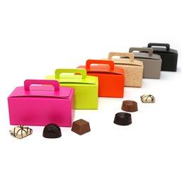 Rhodamine Red Bonbon boxes 250 Grams With Handgrip