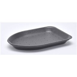 Foam trays 220-25 HP1 CHICKEN With Absorption Black 220x155x25mm