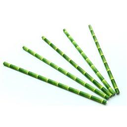"""Drinkrietjes Papier """"FSC"""" Bamboe look Ø 6 x 200mm"""