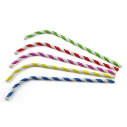 Bending straws Paper (FSC) Stripe Assortment