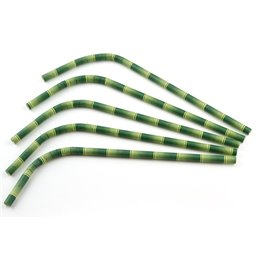 Bend straws Paper (FSC) Bamboo look