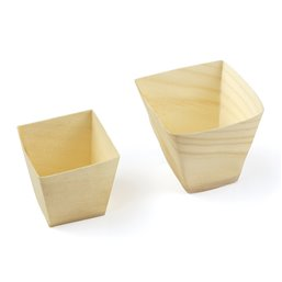 Trays Wood Conical 11cl, (FSC)