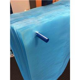 Blauwe Kratzakken Op Stift 580 + 2 x 220 x 630mm 20my (300 op stift)