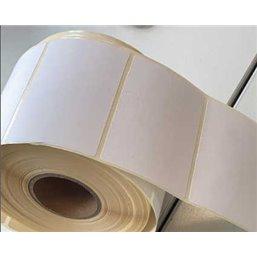 Blanco Etiketten Rechthoek Thermotop Diepvries 82 x 50mm
