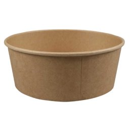 Salad bowl Kraft 1300ml 40oz Brown Ø 66 x 185mm