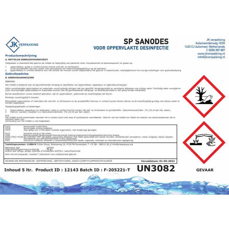 Sandos oppervlakte desinfectie (EM) Horecavoordeel.com