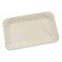 Meat Dishes Cardboard White 10 x 16cm
