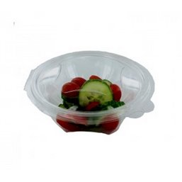 Salad Bowl Round with Secure Lid R-Pet 375ml Transparent