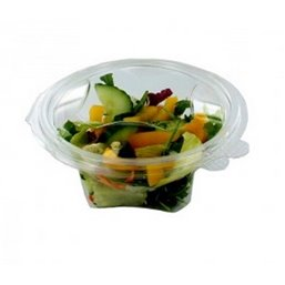 Salad Bowl Round with Secure Lid R-Pet 500ml Transparent