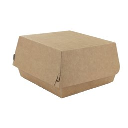 Hamburgerbak Brown White Cardboard 115 x 110 x 70mm