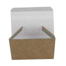 Snackbakje Kipnuggets Bruin - Wit Karton 100 x 60 x 50mm