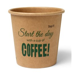 """Koffiebekers To Go 118ml Karton """"Silly Times"""" Ø 62 x 63mm"""