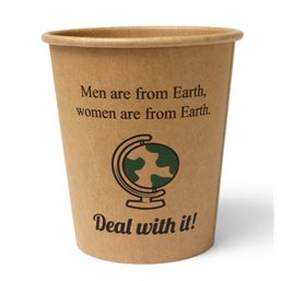 "Coffee Cups Brown Cardboard 177ml ""Silly Times"""